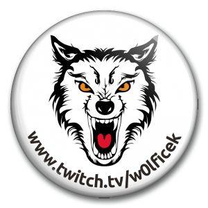 W0lfíček - bílá placka s adresou